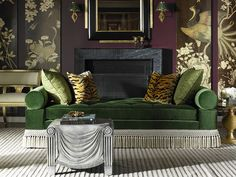 Love these colors and animal print Alexa Hampton Kennedy Divan by Hickory Chair with Alexa Hampton resin table by Maitland-Smith Cheap Furniture, Discount Furniture, Rustic Furniture, Furniture Redo, Salons Cottage, Cheap Couch, Home Library Design, Alexa Hampton, Pastel Interior