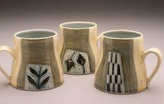 Vine and Flowers Ceramic Mug Ruchika Madan by ruchika on Etsy