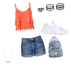 """Untitled #37"" by queen-of-spadesxoxo on Polyvore featuring Topshop, Glamorous, NIKE and Lulu*s"
