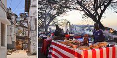 Nachtmarkt im Forodhani Garden © Carina Dieringer Freundlich, Table Decorations, Garden, Furniture, Home Decor, Mouth Watering Food, Tanzania, African, Island