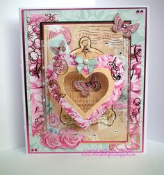 All Pink Girl: September 2011. Kanban Chelsea paper craft collection - foiled & die cut toppers with co-ordinating card.