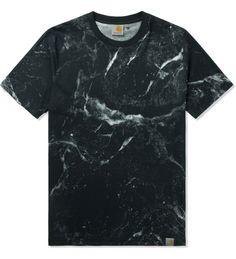 Carhartt WORK IN PROGRESS Black S/S Marble T-Shirt   HYPEBEAST Store. Shop Online for Men's Fashion, Streetwear, Sneakers, Accessories
