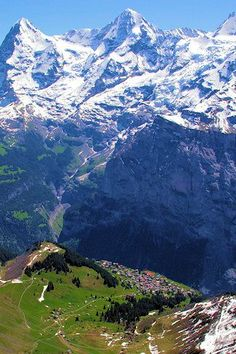 Stand in awe of the Swiss Alps (Murren, Switzerland) one of my most memorable places to visit - awe-some! La Provence France, Places To Travel, Places To See, Beautiful World, Beautiful Places, Voyage Europe, Swiss Alps, Beautiful Landscapes, The Great Outdoors
