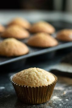 The best Vanilla Muffins are moist, delicious Fun Desserts, Dessert Recipes, Cream Filled Cupcakes, Cupcake Toppings, Easy Cupcake Recipes, Chewy Brownies, Easy Pie, Homemade Cookies, Yummy Cupcakes