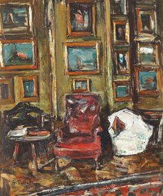Gheorghe Petrașcu (Romanian, 1872 - - Interior from artist's workshop Artist Workshop, Venice Biennale, Building Art, Vulnerability, Art Drawings, Texture, Artwork, Painters, Image