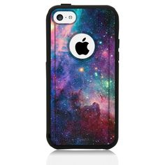 Amazon.com: iPhone 5C Case, UnnitoTM [Dual Layer] * 1 jaar garantie * Case Beschermende [Custom] Commuter Protection Cover (Black - Nebula Galaxy): Mobiele Telefoons & Accessoires