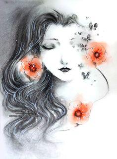 Poppies by Scarlett-Aimpyh