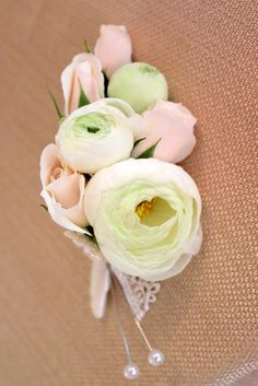Mother's Corsage - spray roses, small ranunculus