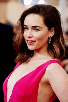 Emilia Clarke in Christian Dior Couture at the 2016 SAG Awards.