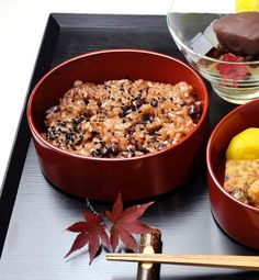 Japanese red rice, Sekihan - steamed mochi rices with red beans and eaten as celebration.