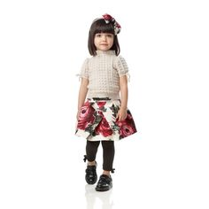 Rose-print skirt - Skirts - Girl - Fall-Winter simonetta
