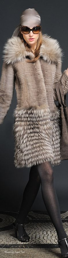 Alberta Ferretti. Does anyone know if this is real or faux fur? Love this look, but there are no valid excuses for killing innocent creatures so we can look good.