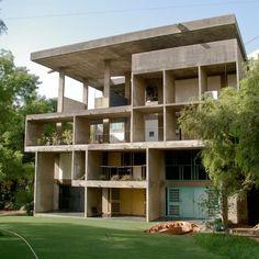 Le Corbusier, The Shodan House Rear Facade, Ahmedabad, India 1956