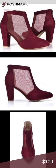 Oxblood Booties Suede + Mesh = Drool Time! Shoes Ankle Boots & Booties