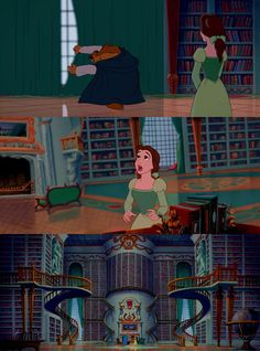 The greatest gift in cinematic history. Little did Belle know, the Beast was an encyclopedia enthusiast.