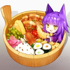 chibi with food prop commission for Thanks for commissioning [COMMISSION] Liliorl Manga Kawaii, Kawaii Chibi, Kawaii Art, Cute Food Drawings, Kawaii Drawings, Beautiful Anime Girl, I Love Anime, Art Plastic, Cute Food Art