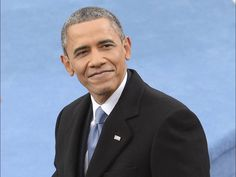 President Obama smiles during his second inauguration ceremony.