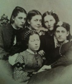 A group of girls. 1860s. American.