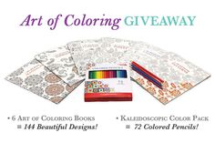 We are proud to introduce our all-new line of coloring books: Art of Coloring. We are especially excited to give you a sneak peak of our Leisure Arts Colored Pencils coming later this spring. (Stay tuned for Leisure Arts Gel Pens and Markers too!) Be the very first to try out our colored pencils by entering our giveaway to celebrate the Launch of the Art of Coloring Books. This series perfectly complements our Color Art for Everyone books featuring designs you'll love to color!
