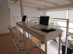 Office - IKEA Besta Burs desk. Perfect size desk