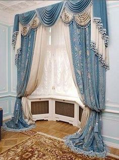 classic curtains and drapes,living room curtains,blue curtain designs,bright… Bedroom Curtains With Blinds, Bright Curtains, Living Room Drapes, Luxury Curtains, Living Room Windows, Green Curtains, Velvet Curtains, Window Curtains, Window Curtain Designs