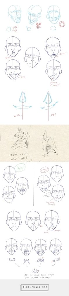 How to show expression with the mouth! by elviras-teckningar