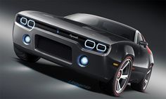 Dodge Challenger Concept Car - like the neon strip head lights
