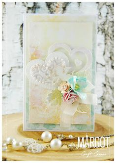 From our Design Team! Card by Małgorzata Dudzińska featuring these Dies - Stitched Nested Hearts,  Two Leaves,  Filigree Hearts, Open Leaf Flourish, Heart Banner :-) Shop for our products here - shop.lalalandcrafts.com More Design Team inspiration here - http://lalalandcrafts.blogspot.ie/2016/02/inspiration-wednesday-hearts.html