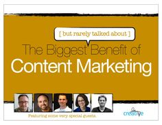 the-biggest-benefit-of-content-marketing by Barry Feldman via Slideshare
