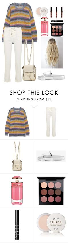 """Just break the silence"" by decimaollin ❤ liked on Polyvore featuring Chloé, Prada, NARS Cosmetics and Fresh"