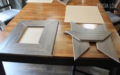 laminate flooring frames. What a great idea for small leftover pieces!!