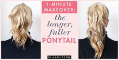 I've pinned a version of this with a clip before, but this two-pony trick looks like it could be easier. Ever dreamed of a longer, fuller ponytail? This two ponytail trick is just what you need to amp up your pony game. Easy Work Hairstyles, Ponytail Hairstyles Tutorial, Hair Updo, Style Hairstyle, Men's Hairstyle, Formal Hairstyles, Headband Hairstyles, Hairstyles Haircuts, Wavy Hair