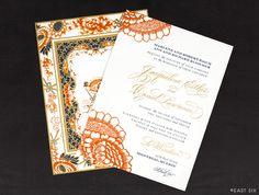 East Six: Wedding Invitations New York #invitations #weddings #color