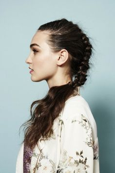 The mohawk braid also works beautifully this way. #hair #braid #mohawk