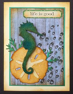 Wendy McCarthy using Designs by Ryn: Water Droplets. Wendy's Card Craft