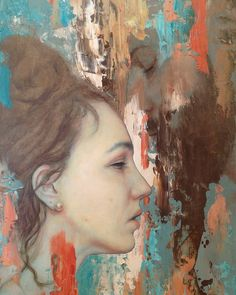"""New Zealand based artist Meredith Marsone's muted oil portraits reveal glimpses of her subjects in emotional and peaceful moments, """"sparks"""" of realism amidst abstraction. They are…"""