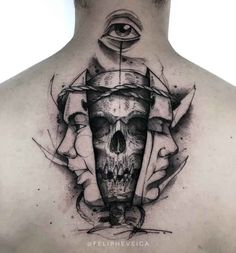 Tattoo-Masken und Totenkopf im Nacken Tattoo masks and skull in the neck Face Tattoos, Skull Tattoos, Sleeve Tattoos, Cool Tattoos, Skull Face Tattoo, Leg Tattoos, Small Tattoos Men, Tattoos For Women, Hals Tattoo Mann