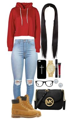 """~Back To School~"" by yaritzaj ❤ liked on Polyvore featuring Timberland, Boohoo, Muse, Casetify, MICHAEL Michael Kors, Christian Dior and Kobelli"