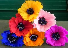 Mexican paper flowers tissue paper flowers tissue paper and mexicans mexican crepe paper flowers set of 6 by flowersbyjuliava on etsy 1675 mightylinksfo