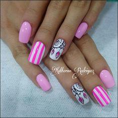 Gel Nail Art, Acrylic Nails, Hair And Nails, My Nails, Nail Art Techniques, Pink Nail Designs, Nail Patterns, Gorgeous Nails, Manicure And Pedicure