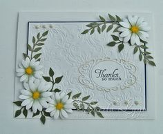 And now to our inspiration for today. #cheeryld #sheilakins2 Dies used: Daisy Lace Frame - FRM118; Daisy Strip - B259; Ivy Strip - B304; Olive Branches - B147 http://www.cheerylynndesigns.com