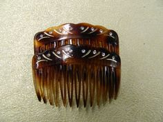 Vintage tortoise rhinestone hair combs made in by aprilsunrises Tortoise Hair, Hair Combs, My Etsy Shop, Hand Painted, France, How To Make, Vintage, Vintage Comics, French Resources