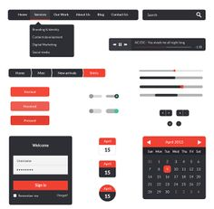 UI Kit PSD in 30 Flat UI Kits for Web Designers