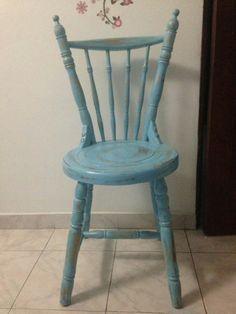Vintage blue chair