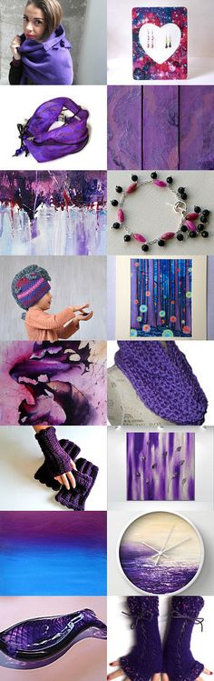 Violet Hues by Carla on Etsy--Pinned with TreasuryPin.com