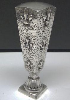 Sterling silver fleur de lis wax seal.