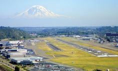Seattle's King Co. Int'l / Boeing (BFI) Field, with Mt. Rainier in the background