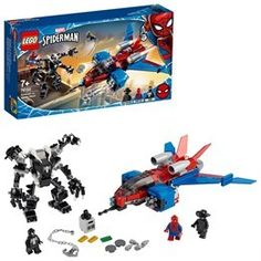 Venom Mech Playset with Spider-Man Noir Minifigure Features a fearsome, black mech with opening Shop Lego, Buy Lego, Lego Duplo, Lego Ninjago, Lego Spiderman, Superhero, Lego Sets, Lego Online, Lego Marvel Super Heroes