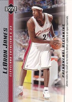 nice 2003 Upper Deck Basketball LEBRON JAMES Phenomenal Beginning Rookie Card RC #17 - For Sale