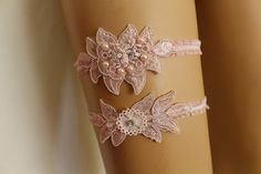 Wedding Garter Pink Lace Bridal GarterWedding by byPassion on Etsy